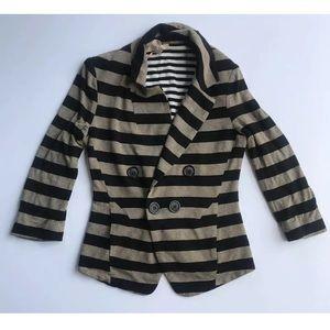 Bailey 44 Striped 3/4 Sleeve Blazer Jacket SZ S